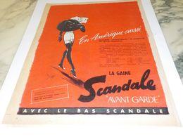 ANCIENNE PUBLICITE EN AMERIQUE AUSSI LE BAS SCANDALE  1956 - Habits & Linge D'époque