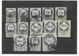 3097j: Österreich Stempelmarken Der Serie 1870 - Gebraucht