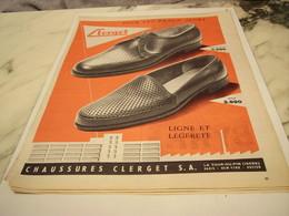 ANCIENNE PUBLICITE POUR LES BEAUX JOURS CHAUSSURE CLERGET 1956 - Habits & Linge D'époque