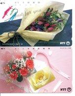 2 Télécartes Japon Japan  Fleur Flower Rose Phonecard (D 660) - Fleurs