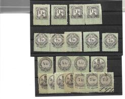 3097i: Ungarn Stempelmarken Der 1. Ausgabe - Gebraucht