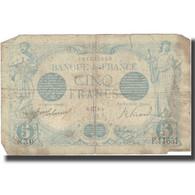France, 5 Francs, Bleu, 1916, 1916-05-02, B, Fayette:2.39, KM:70 - 1871-1952 Circulated During XXth