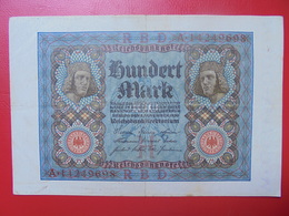 100 MARK 1920 ALPHABET :A CIRCULER (B.4) - [ 3] 1918-1933 : Repubblica  Di Weimar