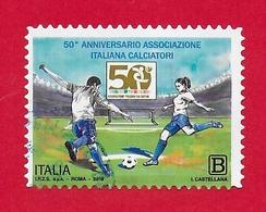 ITALIA REPUBBLICA USATO - 2018 - 50º Anniversario Dell'associazione Italiana Calciatori - 1,10 € - B - S. ---- - 2011-...: Usati