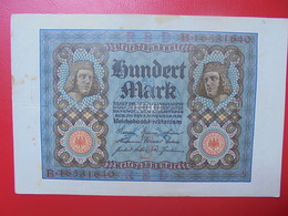 100 MARK 1920 ALPHABET :B CIRCULER (B.4) - [ 3] 1918-1933 : Repubblica  Di Weimar