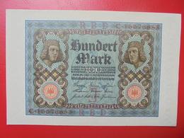 100 MARK 1920 ALPHABET :C CIRCULER (B.4) - [ 3] 1918-1933 : Repubblica  Di Weimar