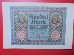 100 MARK 1920 ALPHABET :D CIRCULER (B.4) - [ 3] 1918-1933 : Repubblica  Di Weimar