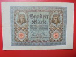 100 MARK 1920 ALPHABET :F CIRCULER (B.4) - [ 3] 1918-1933 : Repubblica  Di Weimar
