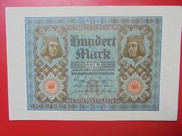 100 MARK 1920 ALPHABET :G CIRCULER (B.4) - [ 3] 1918-1933 : Repubblica  Di Weimar
