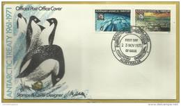 AAT - 1971 Antarctic Treaty Anniversary FDC (Macquarie Island)   SG 19-20  Sc L19-20 - FDC