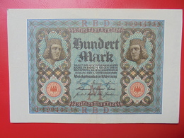 100 MARK 1920 ALPHABET :J CIRCULER (B.4) - [ 3] 1918-1933 : Repubblica  Di Weimar