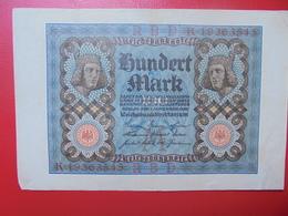 100 MARK 1920 ALPHABET :K CIRCULER (B.4) - [ 3] 1918-1933 : Repubblica  Di Weimar