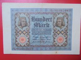 100 MARK 1920 ALPHABET :L CIRCULER (B.4) - [ 3] 1918-1933 : Repubblica  Di Weimar