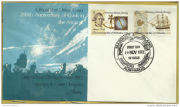 AAT - 1972 Captain Cook FDC (Macquarie Island)   SG 21-2  Sc L21-2 - FDC