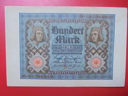 100 MARK 1920 ALPHABET :M CIRCULER (B.4) - [ 3] 1918-1933 : Repubblica  Di Weimar