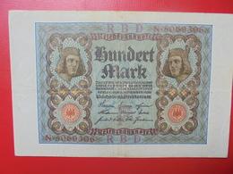 100 MARK 1920 ALPHABET :N CIRCULER (B.4) - [ 3] 1918-1933 : Repubblica  Di Weimar