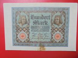 100 MARK 1920 ALPHABET :O CIRCULER (B.4) - [ 3] 1918-1933 : Repubblica  Di Weimar