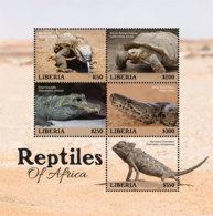 Liberia 2019  Fauna  Reptiles  Nile Monitor, Tortoise ,crocodile ,python ,chameleon I201901 - Liberia