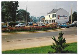 Cpsm: 80 FORT MAHON PLAGE (ar. Abbeville) Le Rond Point: Rue De Quend, Avenue De La Plage, Camping Du Manoir. - Fort Mahon