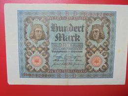 100 MARK 1920 ALPHABET :R CIRCULER (B.4) - [ 3] 1918-1933 : Repubblica  Di Weimar