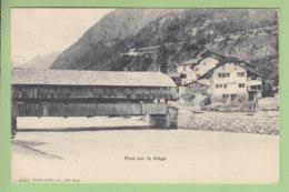 VIEGE, Visp : Pont Sur La Viège. TBE. 2 Scans. Edition Burgy - VS Valais
