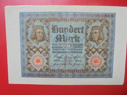 100 MARK 1920 ALPHABET :S CIRCULER (B.4) - [ 3] 1918-1933 : Repubblica  Di Weimar