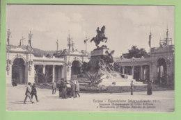 TORINO : Esposizione Internazionale 1911, Ingresso Monumentale Di Corso Raffaele. TBE. 2 Scans. Edition Brunner - Exhibitions