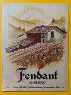 10665 - Fendant  Auslese Valais Suisse Ancienne étiquette George Braig Erlenbach - Etiquettes