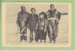 GRONLAND, Kalaallit Nunaat : Famille D'Esquimaux Catholiques Aux Glaces Polaires. Groenland. TBE. 2 Scans. - Groenland