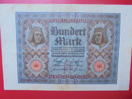 100 MARK 1920 ALPHABET :X CIRCULER (B.4) - [ 3] 1918-1933 : Repubblica  Di Weimar