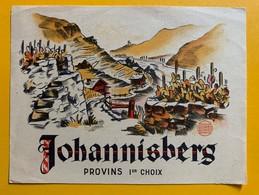 10667 - Johannisberg Provins 1er Choix   Valais Suisse Ancienne étiquette - Etiquettes
