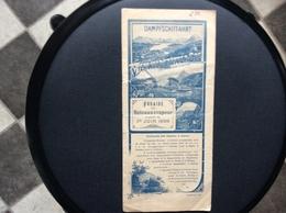 HORAIRE Des BATEAUX À VAPEUR  Lac Des Quatres-Cantons Et Les  Environs  DAMPFSCHIFFAHRT  Suisse  JUIN 1899 - Bateaux