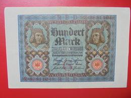 100 MARK 1920 ALPHABET :Z CIRCULER (B.4) - [ 3] 1918-1933 : Repubblica  Di Weimar