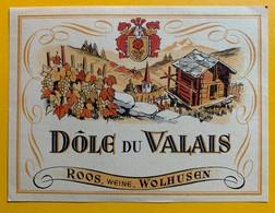 10668 - Dôle Du Valais Suisse Ancienne étiquette Roos Wolhusen - Etiquettes
