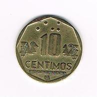 //  PERU  10  CENTIMOS  2000 - Pérou