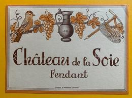 10669 - Fendant Château De La Soie Valais Suisse Ancienne étiquette Piolet Et Corde D'alpiniste - Etiquettes