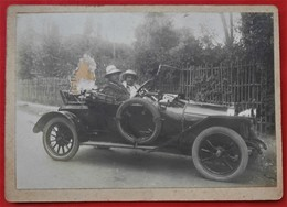 92 COLOMBES Photo CDV Grand Format Voiture Ancienne  A Identifier Etat - Automobiles