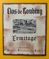 10672 - Clos De Goubing Ermitage Valais Suisse Ancienne étiquette Grand-Séminaire Sion - Etiquettes