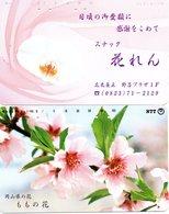 2 Télécartes Japon Japan  Fleur Flower  Phonecard (D 676) - Fleurs