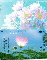 2 Télécartes Japon Japan  Fleur Flower  Phonecard (D 677) - Fleurs