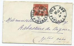 Enveloppe Cachet Depart Pau Arrivée Rabastens - Poststempel (Briefe)