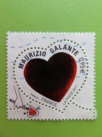 """Timbre France YT 4529 - Saint-Valentin - Coeurs Du Couturier Maurizio Galante - """"Grave Tes Initiales"""" - 2011 - Used Stamps"""