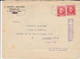 1937 SOBRE 5a DIVISION ORGANICA  BRIGADA 39 2° BATALLON TOLEDO   EL507 - 1931-Hoy: 2ª República - ... Juan Carlos I