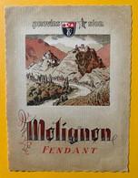 10677 - Fendant Molignon Valais Suisse Ancienne étiquette Provins - Etiquettes