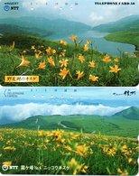 2 Télécartes Japon Japan  Fleur Flower  Phonecard (D 678) - Fleurs