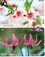 2 Télécartes Japon Japan  Fleur Flower  Phonecard (D 679) - Fleurs