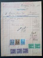 RONCEGNO (Trento) 1943 - Fattura Famiglia Cooperativa - Marche Da Bollo - Italia
