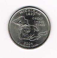 //  U.S.A.  1/4 DOLLAR  MICHIGAN   2004 D - Émissions Fédérales