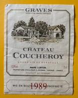 10682 - Château Coucheroy 1989 Graves - Bordeaux