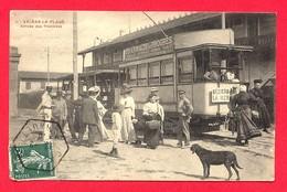 Valras La Plage (34) Arrivée Des Tramways (voir état) - Autres Communes
